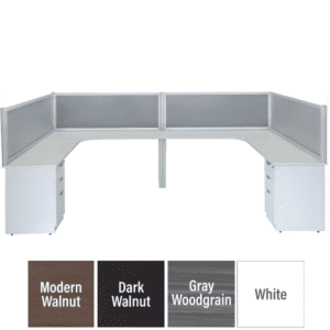 Lair Two Person Privacy Workstation Set