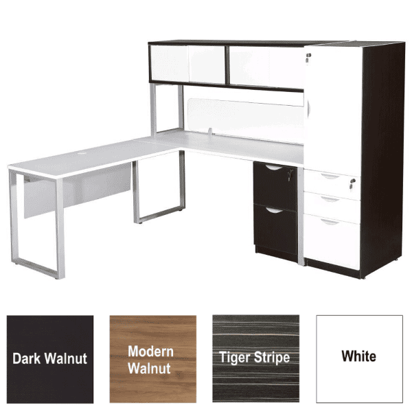 Express Lair L-Shaped Benching Workstation