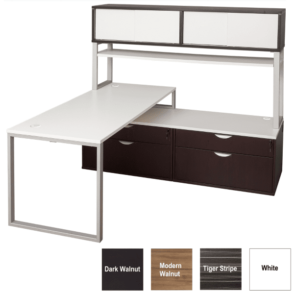 Express Lair Typical 1C L-Shape Benching Workstation