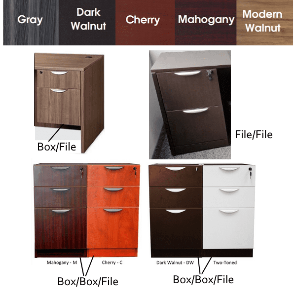Express Office Furniture - Storage Pedestals - EL in 5 Finishes