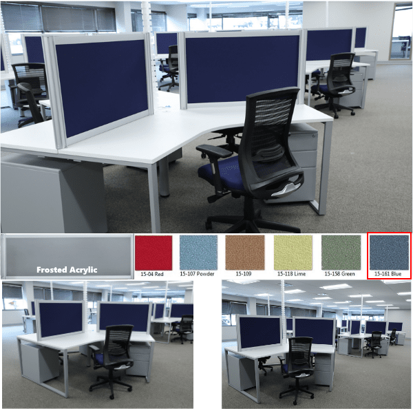 Fabric Panels at 24 Inch Height - 6 Fabrics Available + Frosted Acrylic