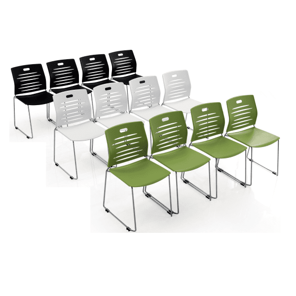 GW Stack Chair - 3 Colors - Black Green White