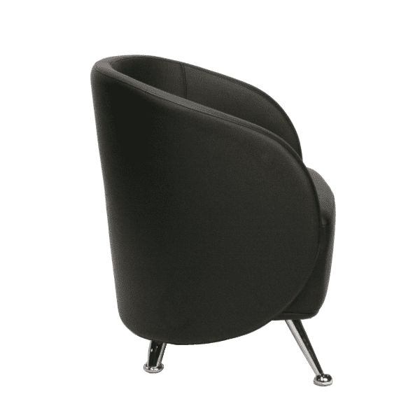 HU-953 Club Chair - Side - Black