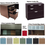 Credenza + Optional Hutch - Storage Options - Tackboard