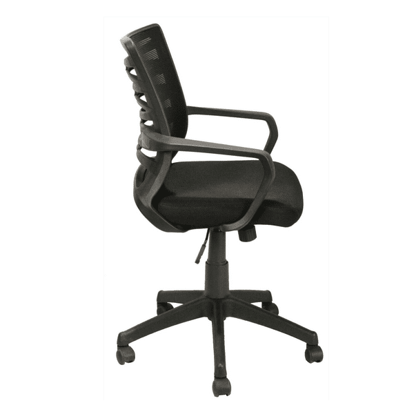 KB-2022BLACK Mesh Back Task Chair - Side View