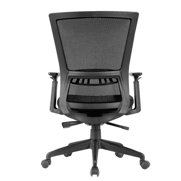 KB-8926 Black Mesh Task Chair - Rear -