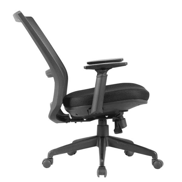 KB-8926 Black Mesh Task Chair - Side
