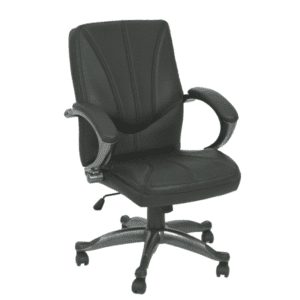 KB-9621B Black Mid Back Office Chair