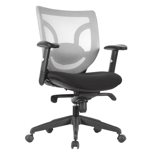 Kb-8901 - White Mesh Back with Grade A Fabric with Mesh Seat Cover