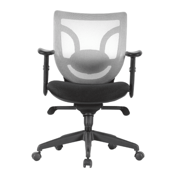 Kb-8901 - White Mesh Back Black Seat
