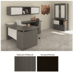 Sterling L-Shape Desk with Wall Mount Hutch