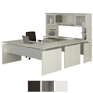 U Shaped Medina Desk with Straight Front 90° U Shaped Desk