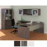 Steel Gray - Left Return with Wall Mount Hutch