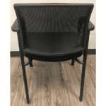 Black Mesh Guest Chair with Four Legs - Rear
