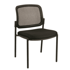 SX-4067B Black Mesh Back Guest Chair with Grade A Black Fabric Seat
