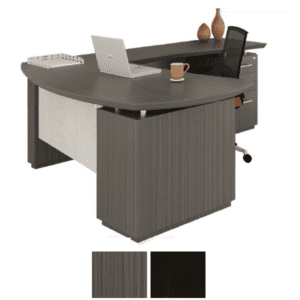Sterling Series Executive Desk with Bevel Edge - Textured Driftwood