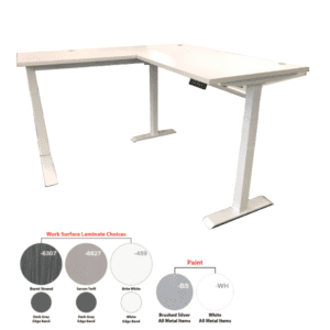 Electric L-Shape Height Adjustable Workstation