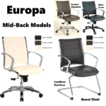 Europa Mid Back Leather Executive Guest & Mid Back Swivel Chairs