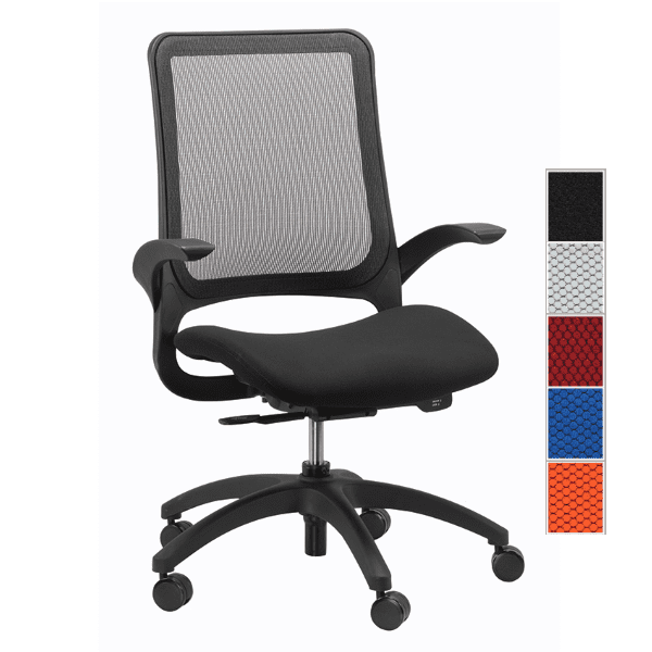 Eurotech Hawk Task Chair - Black - 5 Colors
