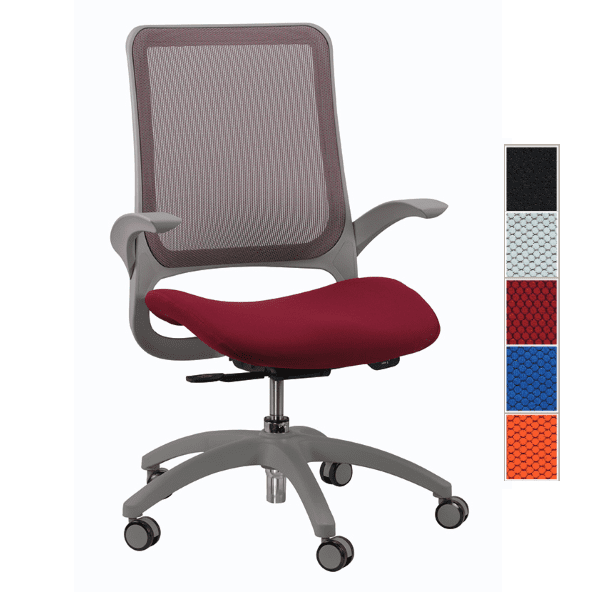 Eurotech Hawk Task Chair - Burgundy - 5 Colors