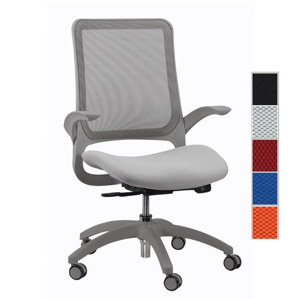 Eurotech Hawk Task Chair - Gray - 5 Colors