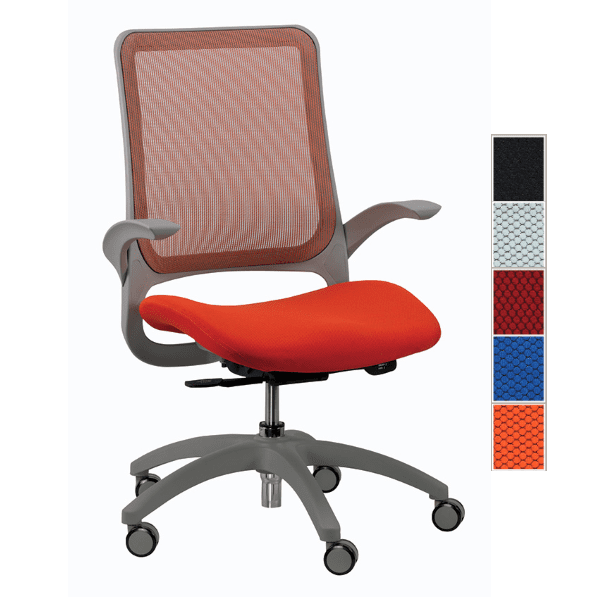 Eurotech Hawk Task Chair - Orange - 5 Colors
