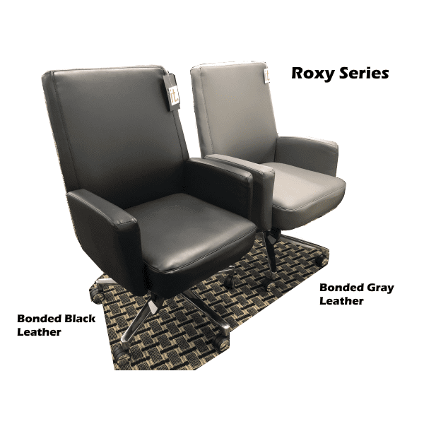 LAZ550-Roxy Series La-Z-Boy® Executive Chair - Gray + Black Bonded Leather
