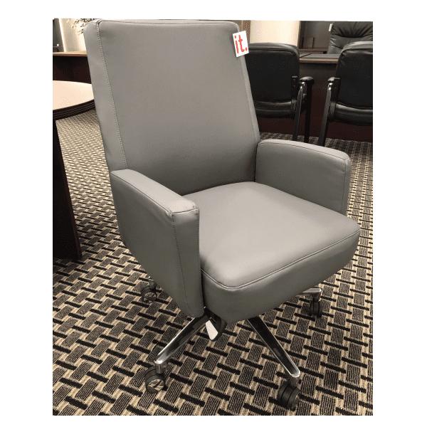 LAZ550-Roxy Series La-Z-Boy® Executive Chair - Gray Bonded Leather