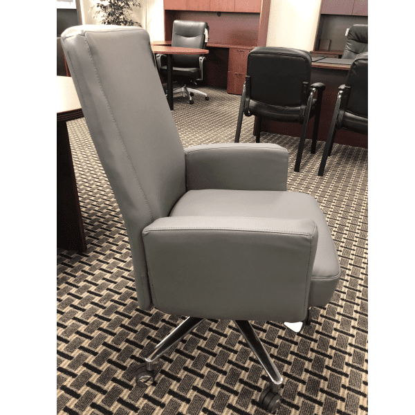 LAZ550-Roxy Series La-Z-Boy® Executive Chair - Gray Bonded Leather - Side