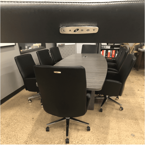 LAZ550-Roxy Series La-Z-Boy® Executive Chairs at 10 Feet Conference Table