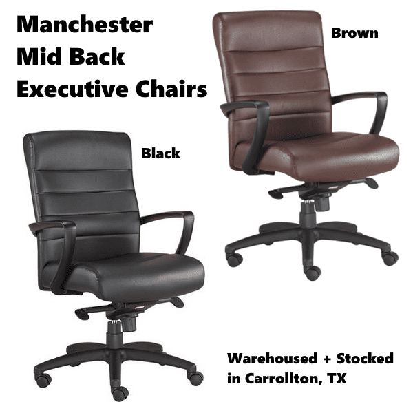 Manchester Executive Mid Back Executive Chairs Stocked in Carrollton