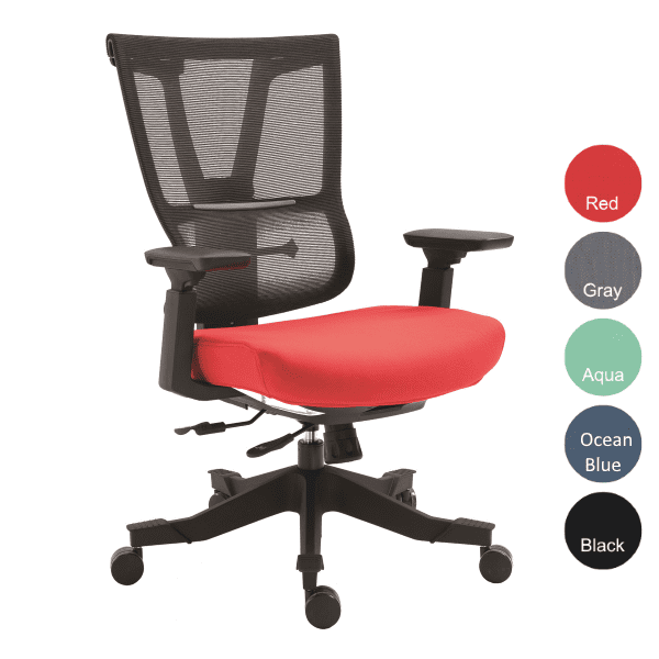 Mesh Executive Task Chair - Red