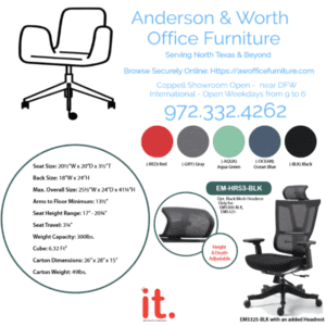 Mesh Executive Task Chair with Optional Mesh Headrest