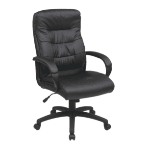High Back Faux Black Leather Executive Chair