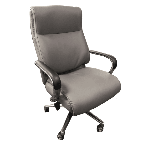 OFD-LAZ553-GRY Chuze La Z Boy Professional High Back Executive Chair - Bonded Gray Leather