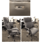 OFD-LAZ553-GRY Chuze La Z Boy Professional High Back Executive Chair - Bonded Gray Leather Chair