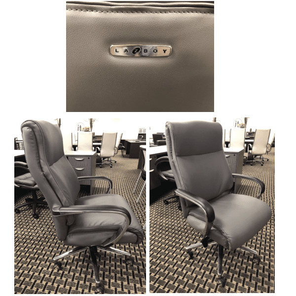 Executive Chair - Bonded Gray Leather Chair