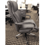 OFD-LAZ553-GRY Chuze La Z Boy Professional High Back Executive Chair - Bonded Gray Leather - Side