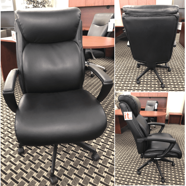 OFD Sertapedic Emerge High Back Black Leather Executive Chair - Show - Collage