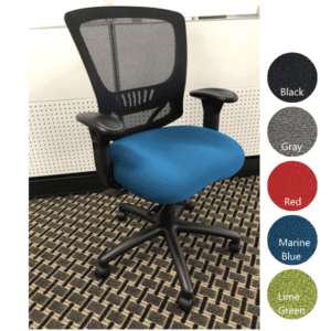 Marine Blue Fabric Molded Foam Seat Cushion