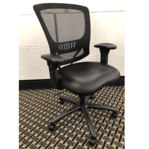 Black Leather Mesh Task Chair