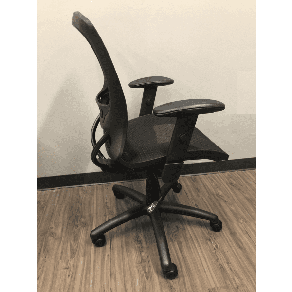 OFD500M-BLK – Mesh It Generation II Task Chair with Mesh Back and Mesh Seat - Right Side