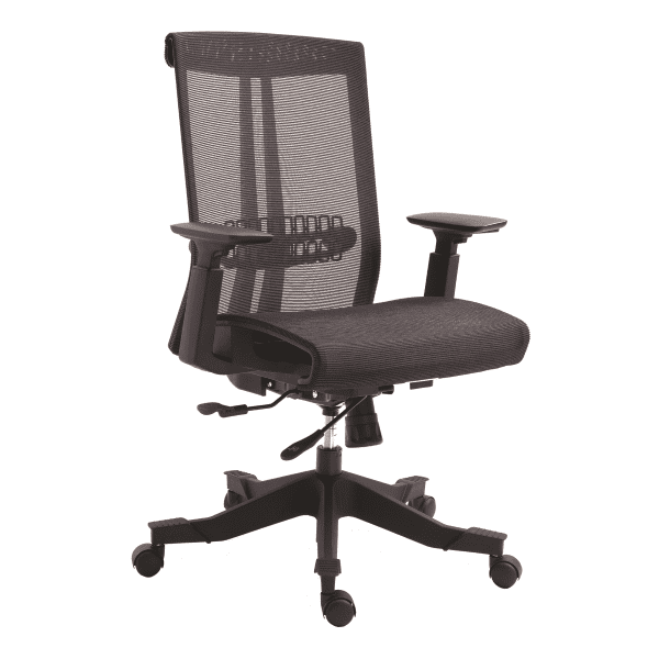 Twyst Series German Krall + Roth Flexible Black Mesh Back Task Chair - EM5200-BLACK - In Stock