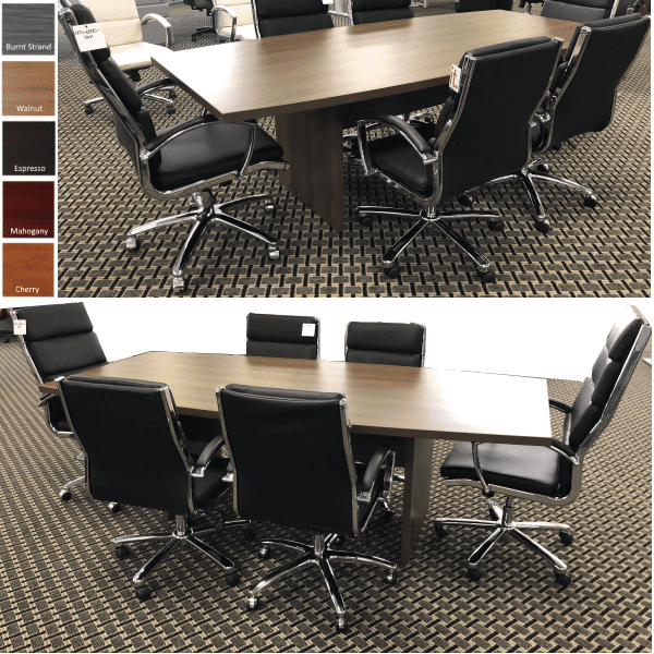 Ultra 8 Feet Conference Table - Boat Shape - Modern Walnut - Conference Tables Collage - 5 Finishes
