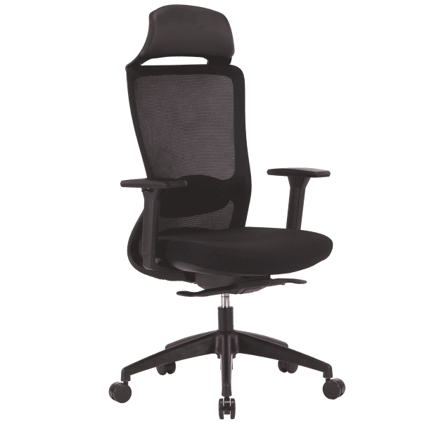 All Black Task Headrest Chair