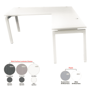 OFD Bench iT Modular L-Shaped Desk - Right Handed