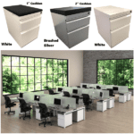 Bench iT Modular Series Mobile Two Drawer Box File Pedestals in Stock
