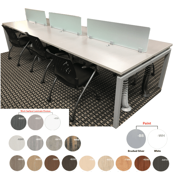 Bench iT Top Mount 6-Person Workstation