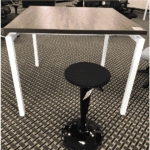 Bench it Table with Active Adjustable Height Seating Sit Stand Stools