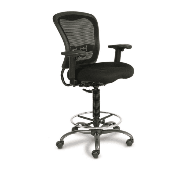 7851NS Spice All Black Mesh Task Stool